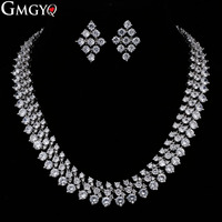 GMGYQ The Best Wedding Gift for Roman Women's Jewelry with Exquisite Design and Exaggerated Wide Necklace Round Zirconia
