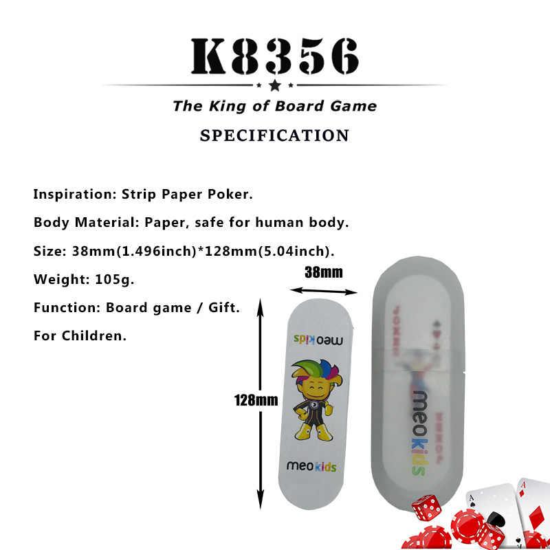 K8356 1 комплект полоса Бумага покер техасский холдем бумажные игральные карты гладкие карты для покера детская доска игровая карта 1,496*5,04 дюймов