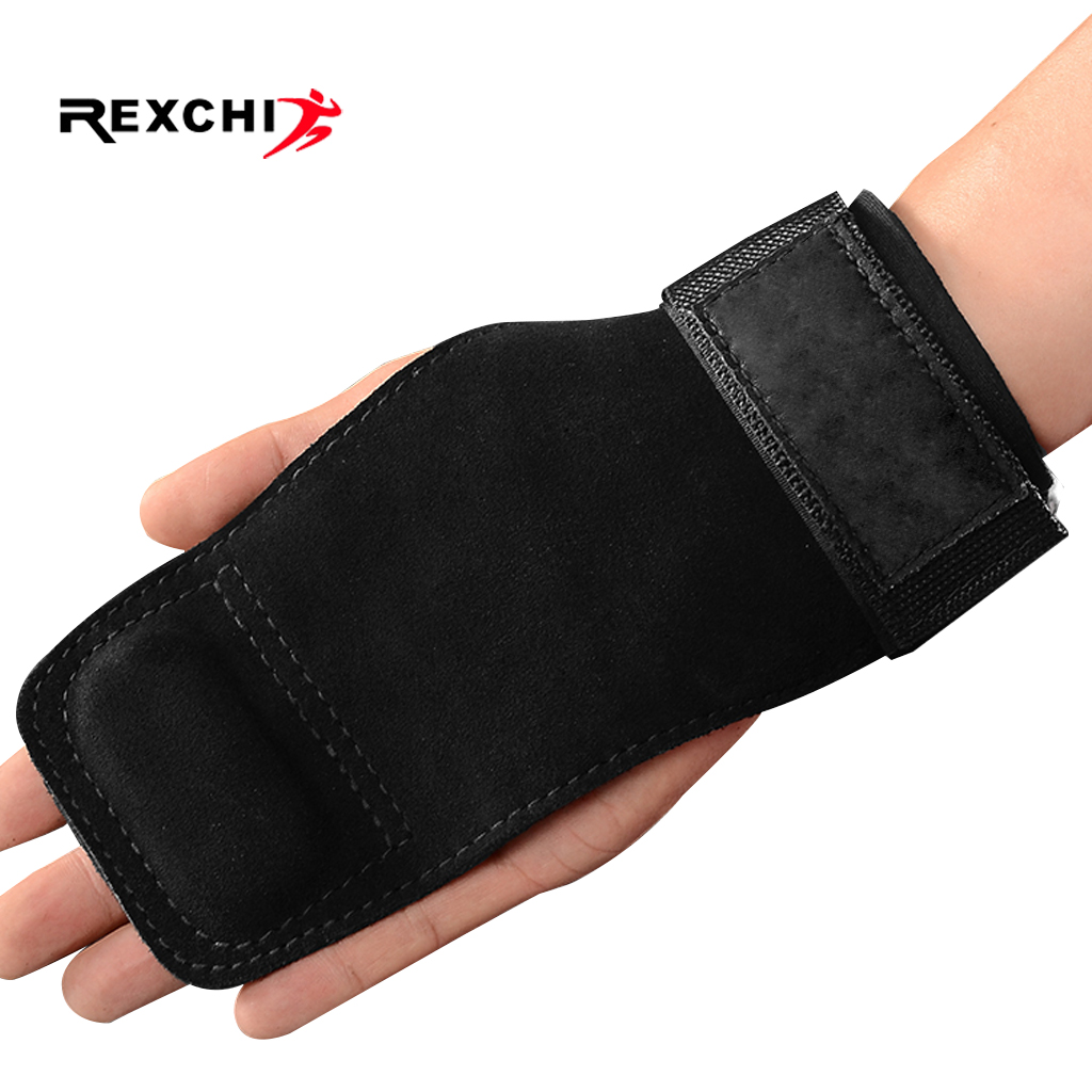 REXCHI Gym Fitness Hand Grips Gymnastics Gloves Power Weight Lifting Palm Protector Crossfit Workout Bodybuilding Wrist Support