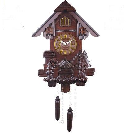 Европейские настенные немой творческий гостиная cuckoo часы из цельного дерева кварцевые детская комната праздничные подарки