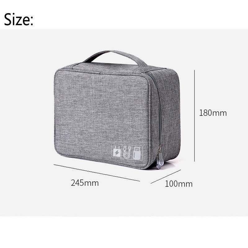 Travel  Storage Bags Nylon Electronics Accessories Organizer Travel Storage Hand Bag Cable USB Drive Case Bag 3