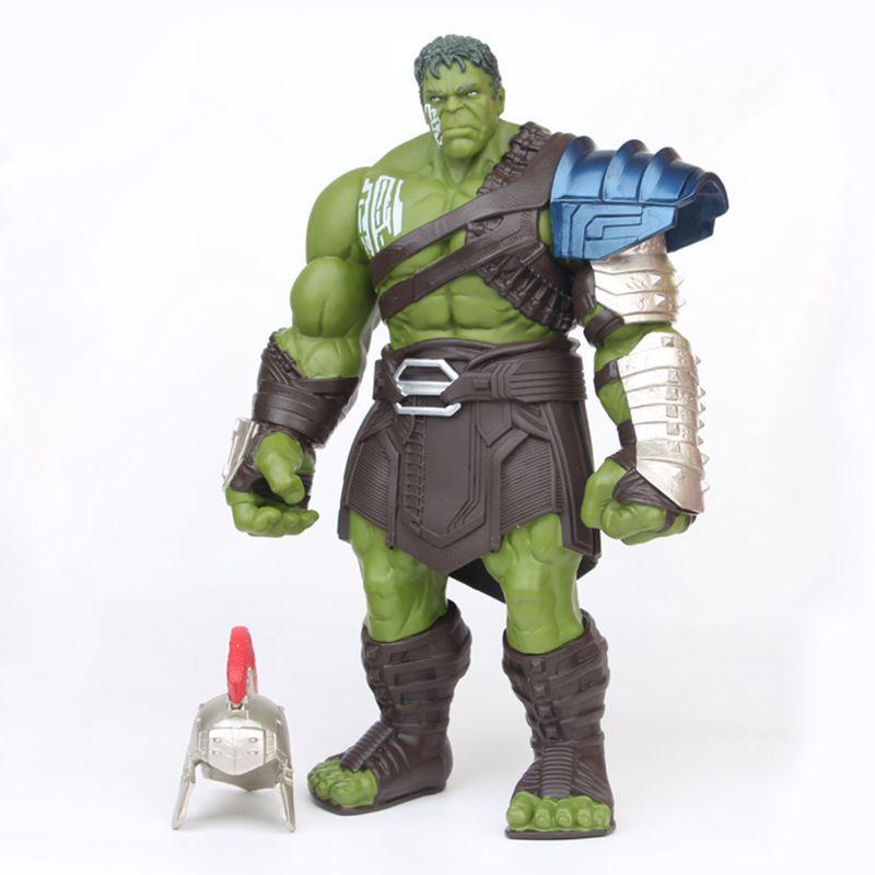WXIAO HMMOZ Disney Marvel Avengers Thor 3 Ragnarok Hulk Robert Bruce 20cm Action Figure Anime Decorazione PVC Collezione figurina Giocattolo Modello la Figura del Anime Color : Nero