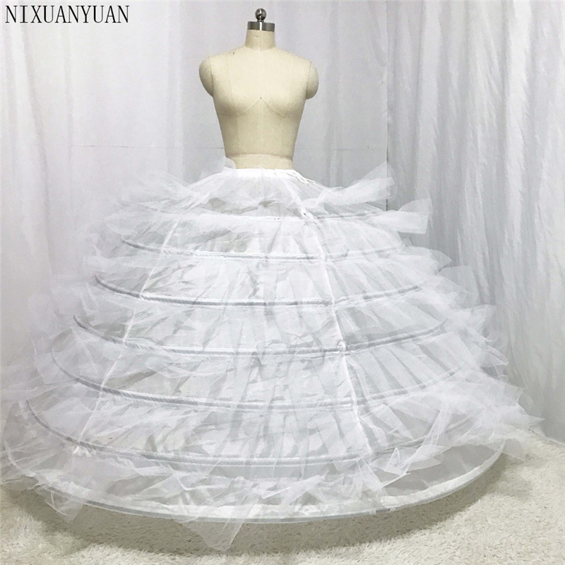 Designer Wedding Petticoat Seven Layer With Hard Tulle For Puffy Wedding Gown 2019 For Big Wedding Dress Puffer Dress