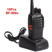Wholesale 10 PCS/lot Baofeng BF-888S Walkie Talkie 5W Handheld Pofung bf 888s UHF 400-470MHz 16CH Two-way Portable CB Radio
