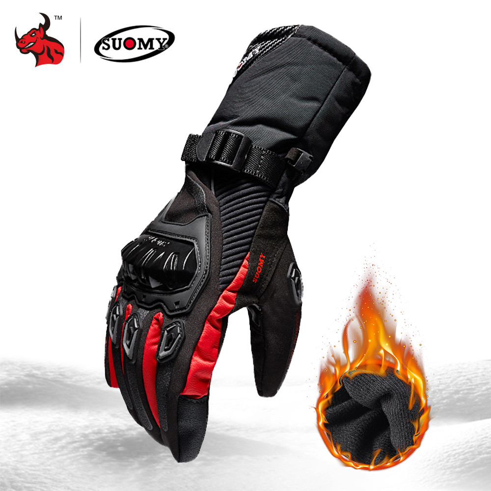 SUOMY Motorcycle Gloves Men 100% Waterproof Windproof Winter Moto Gloves Touch Screen Gant Moto Guantes Motorbike Riding Gloves(China)