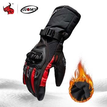 SUOMY オートバイ手袋男性 100% 防水防風冬モト手袋タッチスクリーンガントモト Guantes バイク乗馬手袋