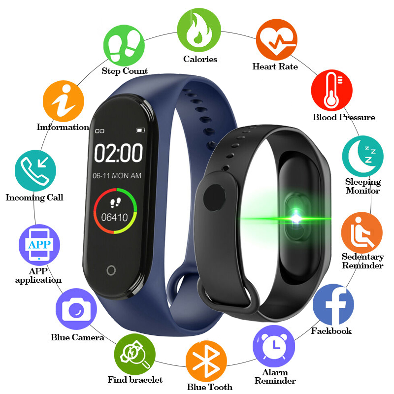Smart Bracelet Bluetooth Sport Pedometer Wristband Calculation for IOS Android Distance