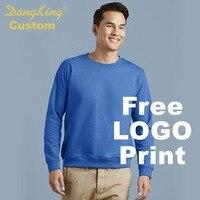 DongKing Custom Sweatshirt Print LOGO Crewneck Cotton Fleece Warm Sweatshirts Classic Fit Men Women Unisex Personalized