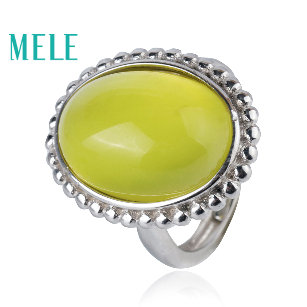 Natural yellow prehnite 925 sterling silver ring for women and man,12X17mm big Oval cut 16ct fine gemstone trendy jewelry цена 2017