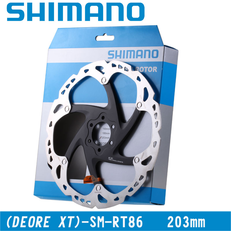 SHIMANO Deore XT SM-RT86 frein à disque frein à disque en acier inoxydable vélo vélo frein à disque Rotor Six vis à ongles 203mm