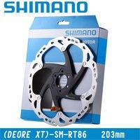 SHIMANO Deore XT SM RT86 Disc Brake Disc Brake Stainless Steel Bike Bicycle Disc Brake Rotor Six Nail Screws 203mm