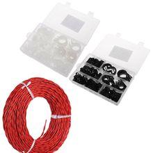 200 шт нейлон пластик P крепеж зажимы Ассорти в коробке для провода кабель монтажный шланг трубы трубопровод комплект