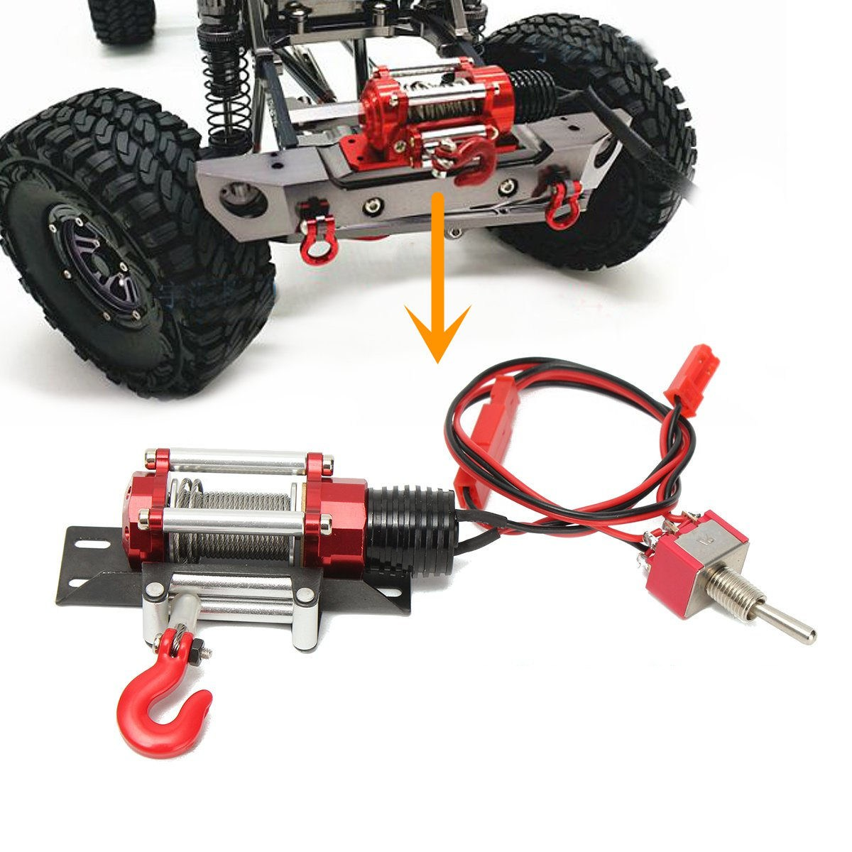 Winch Traction All Metal Type A For 1/10 RC Crawlers YA-0386 RC Car Part Accessories 15cm 10 5cm my other ride is a bobcat funny personality creative car stickers c5 0386