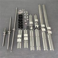 3 śruba kulowa RM1605 + SBR16/SBR20 CNC prowadnica liniowa + BK/BF12 + osłona na nakrętki + łączniki do routera/frezarki w Prowadnice liniowe od Majsterkowanie na