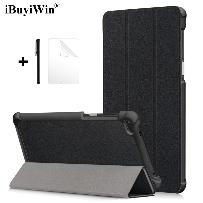 Case for <font><b>Lenovo</b></font> <font><b>Tab</b></font> 4 <font><b>7</b></font> <font><b>TB</b></font>-7504F <font><b>TB</b></font>-7504N <font><b>TB</b></font>-<font><b>7504X</b></font> <font><b>7</b></font>.0 Slim Folding Stand Cover PU Leather Case for <font><b>Lenovo</b></font> Tab4 <font><b>7</b></font> Tablet Funda image