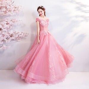 Image 5 - Walk bside You vestido de graduación con apliques, largo vestido de baile con hombros descubiertos, vestidos nocturnos de novia, vestido de novia