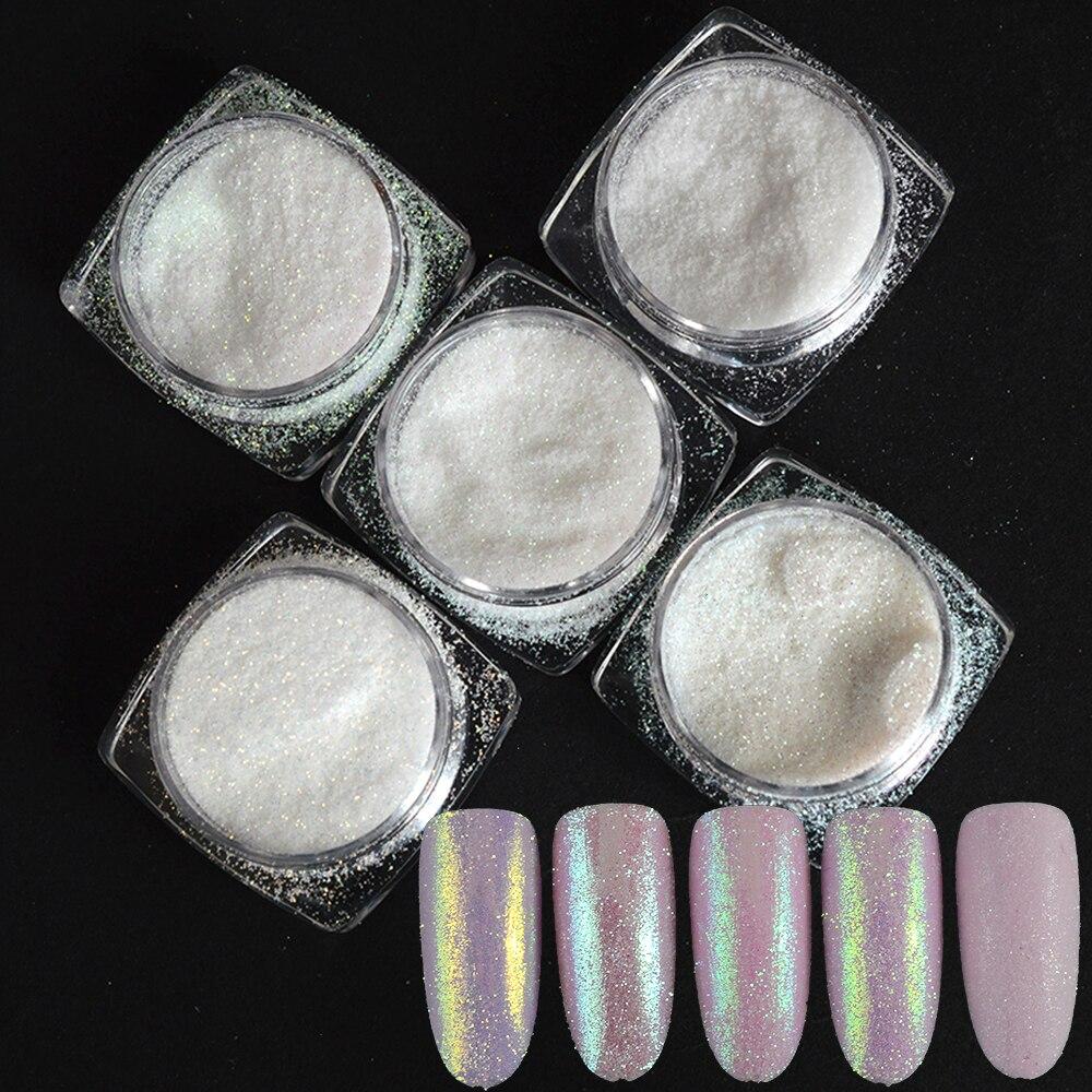 5 Box Nali Kunst Dekorationen Sets Shinning Holographische Zucker Pulver Uv Gel Polnischen Nail Glitter Staub Candy Farben Trty01-05 Modische Und Attraktive Pakete Nagelglitzer