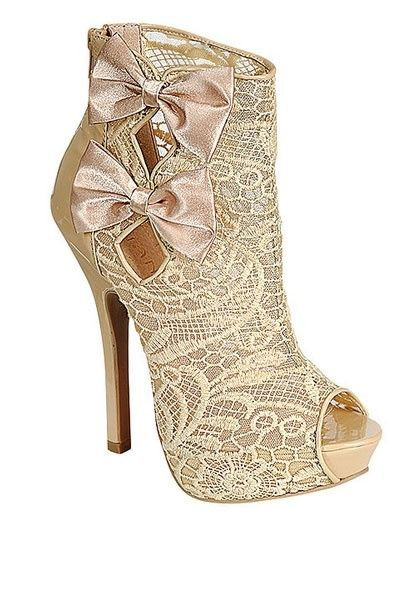 elegant hollow out thin heel boots lace surface embroidered peep toe platform shoes Butterfly-knot decoration women ankle boots peep toe stiletto heel hollow out boots