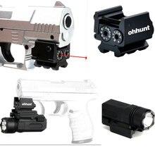 Мини Регулируемая Компактный Тактический Red Dot лазерный прицел, пригодный для пистолет с рейку 20 мм кольца
