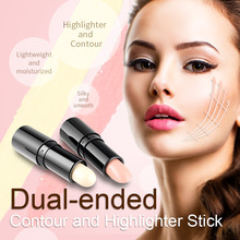3D Double-ended 2 in1 Contour Stick Makeup Creamy Contouring Highlighter Bronzer