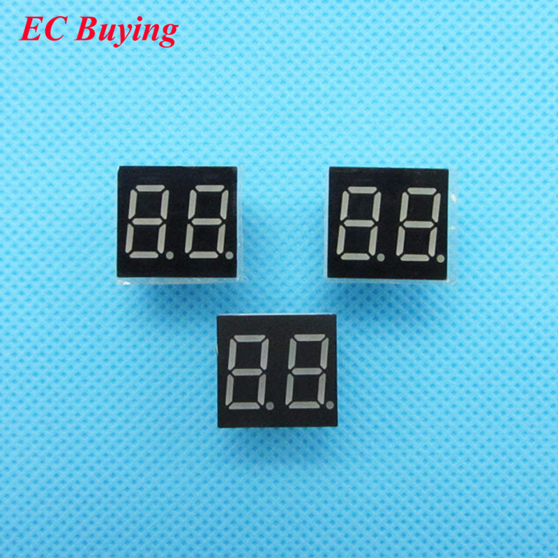 5pcs 2 Bit 2bit Digital Tube Common Anode Positive Digital Tube 0.36