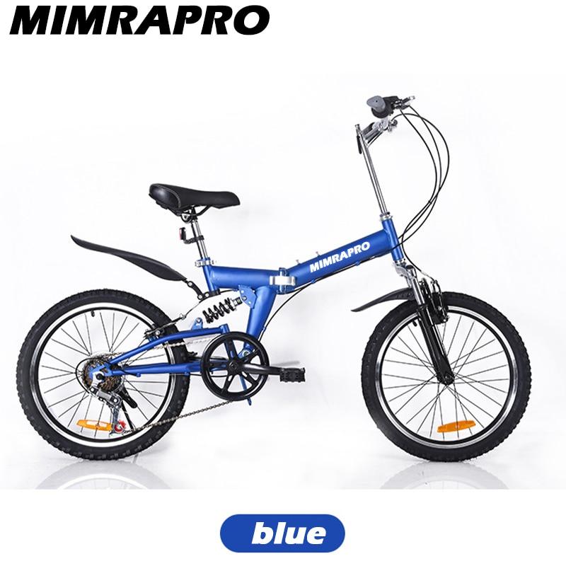 MIMRAPRO Bike Full Suspension Steel Foldable Frame 24 Speed Mechanic Brake 26