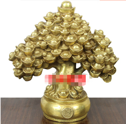 Copper ingot Pachira money tree Home Decoration