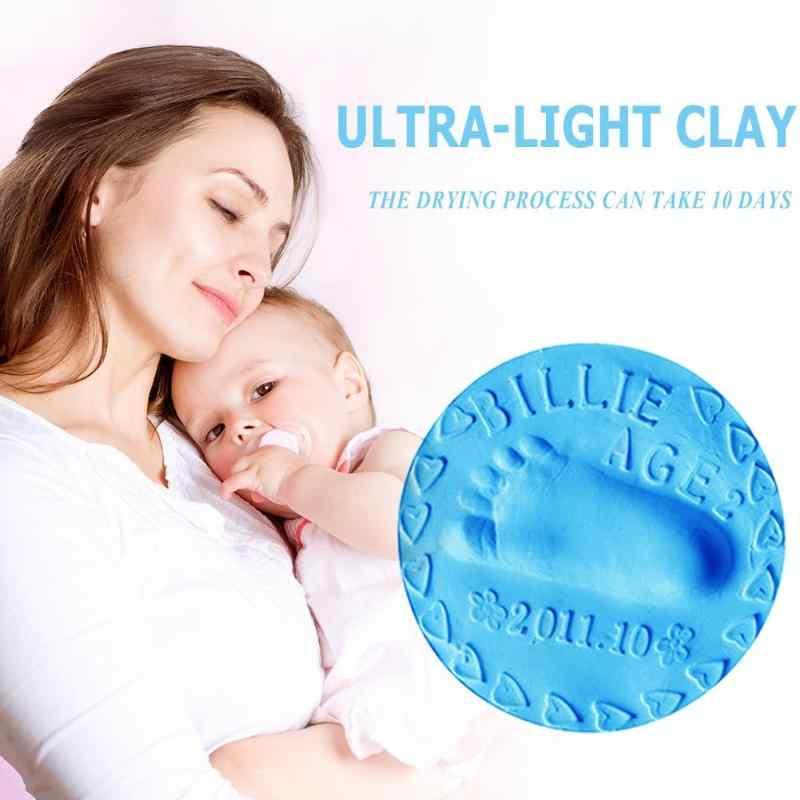 2pcs ยางโคลน Ultra-light Clay Handprint โคลนเด็กของเล่นเพื่อการศึกษา