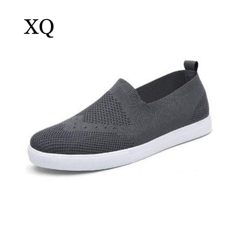 Hot selling Men Casual Shoes Breathable Air mesh Shoes Men Fashion Solid Slip-on Zapatillas Hombres Male Sapato Masculino