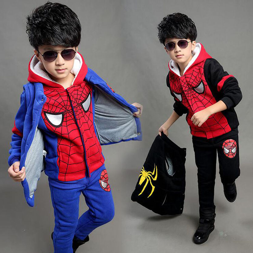 Boys Clothing Sets Cartoon 3pcs Vest+Jacket+Pants Sport Suit For Boys Clothes Winter Costumes Kids Tracksuit Conjunto Menino boys suit kids tracksuit clothing sets sport suit 100