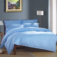 FUYA 100 Cotton Solid Bedding Twin Full Queen King Size Home Textile Fabric 3 4 Piece