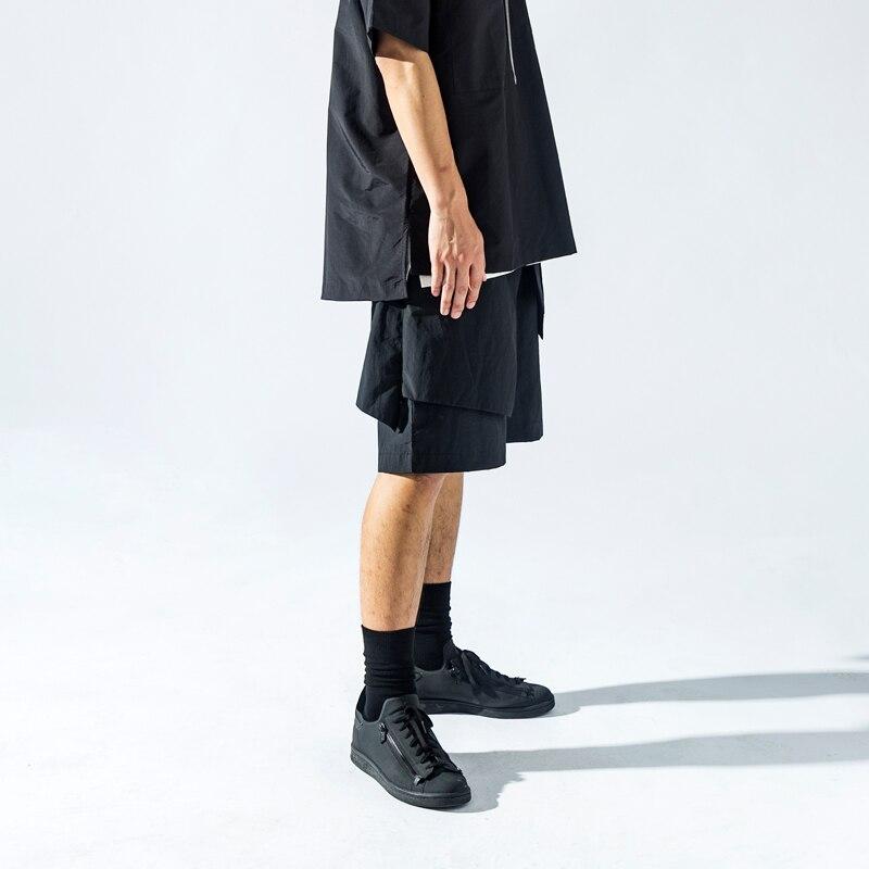 2018 Coupe D La Vêtements Culottes Pantskirt Plus Costumes Guerrier 27 Cheveux Ieu Taille Styliste De Mode Irrégulière Rue Hommes Noir 46 Nouveau OwU0fE