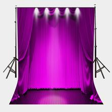 5x7ft Bright Stage Backdrop Ultra Violet Color Curtain Photography for Photo Shoot Background Studio Props