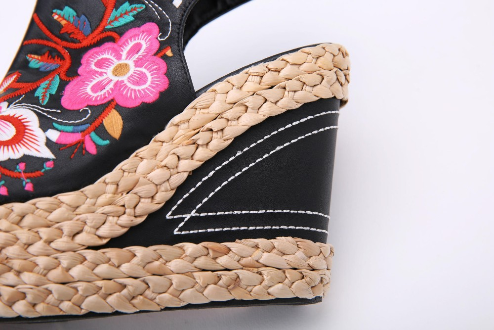 9aa5d19b3550 2015 New Women Summer Shoes Sexy Platform Wedges Ladies Sandals Retro  Embroidery High Heels Sandal Shoes Sapatos AL244