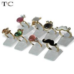 Groothandel Ring Show Plastic Frosted Sieraden Displays Houder voor Ring, decoratie Stand 16000 stks