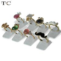 Wholesale Ring Show Plastic Frosted Jewelry Displays Holder for Ring, Decoration Stand 16000pcs