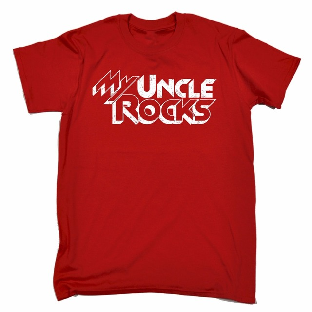 My Uncle Rocks Mens T Shirt Tee Birthday Gift Brother Nephew Niece Family Funny