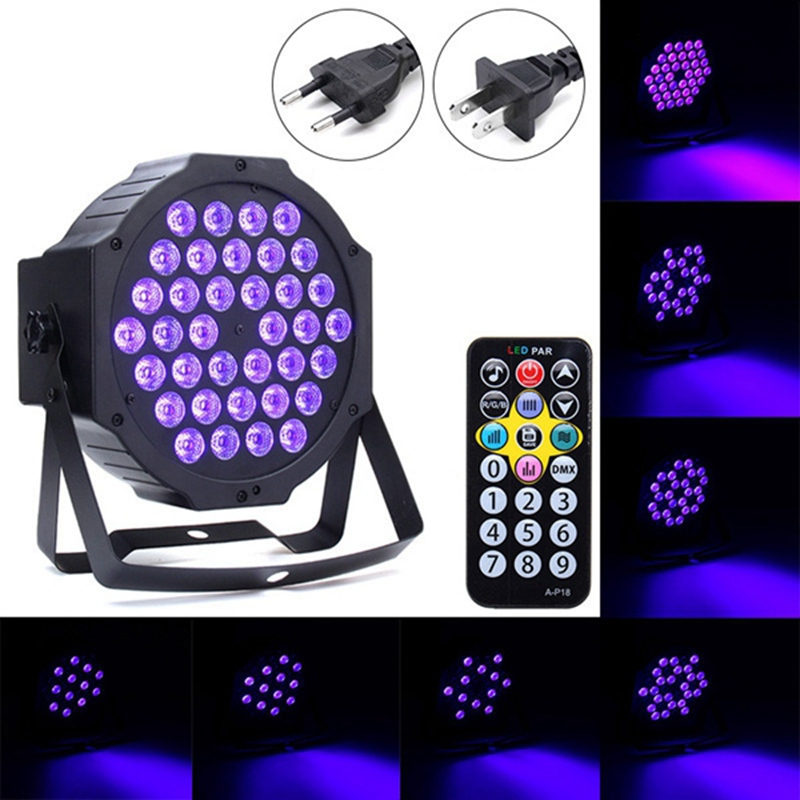 36W Auto/Sound Active LED Stage Light DMX LED Stage Lighting Effect Par Lamp For Party Disco Club Bar DJ Show KTV Lights 2xlot sales 2016 led par light 7x15w rgbwa 5in1 100w dj disco dmx stage lights par can led effect club party lighting free ship