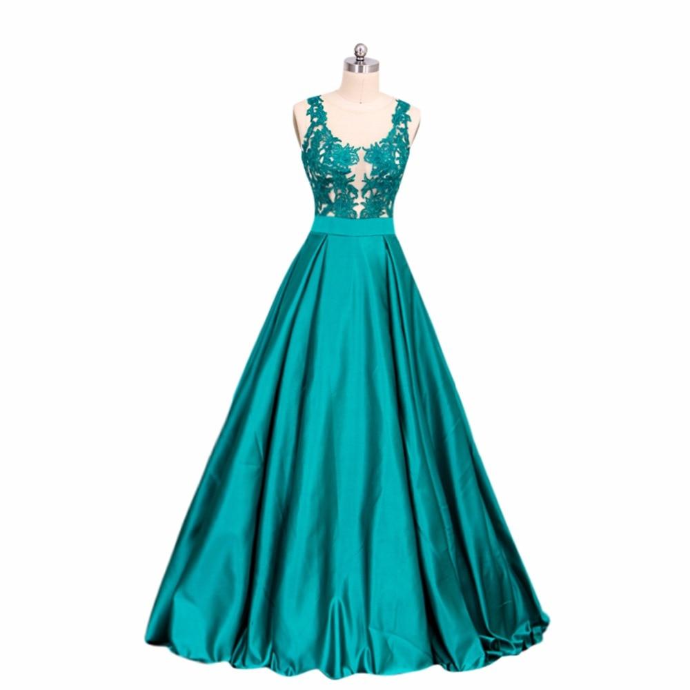 ANTI Elegant Prom Kjoler Lang Av Skulderen 2018 Appliques Beaded - Spesielle anledninger kjoler - Bilde 6