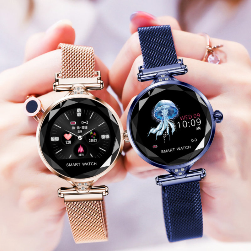 H1 smart watch women heart rate blood pressure fitness pedometer female physiological cycle waterproof smartwatch reloj Bracelet-in Smart Watches from Consumer Electronics    1