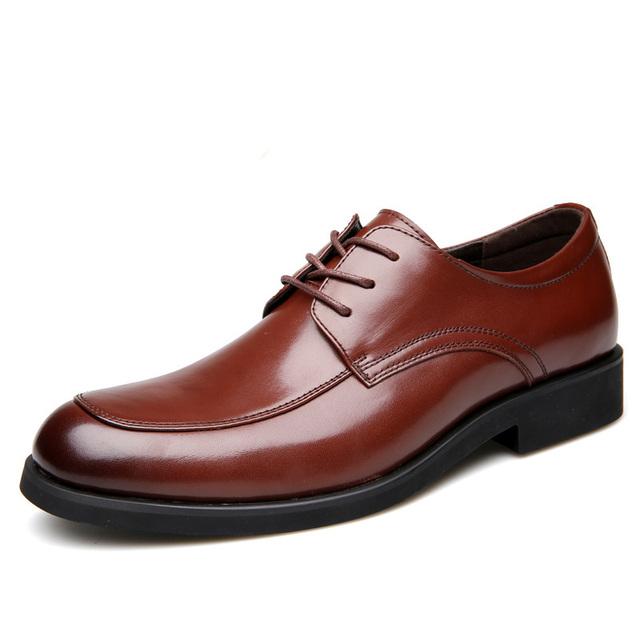 NPEZKGC Brand Classic Black Men Dress Shoes, Fashion men shoes Lace Up Men Oxfords Shoes