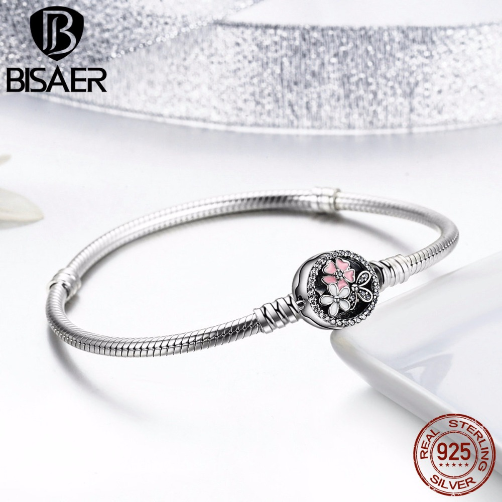 5cf1687b5b8b Aliexpress.com  Comprar BISAER genuino pulsera de plata 925 de joyería de  cadena de serpiente brazalete y pulsera de plata 925 joyería Original  regalo de ...