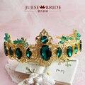 Estrella corona de la Moda retro Barroco tiara hair jewelry pendientes de dos piezas escenario fotografía disparar mujeres joyería del pelo celada