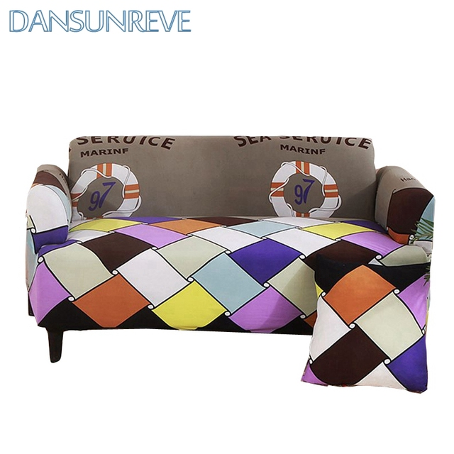 Modern Colorful Plaid Sofa Cover Polyester Elastic Sofa Cover For Home  Decoration Fashionable And Beautiful