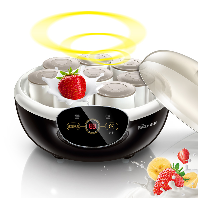 цена на Bear SNJ-A10K5 Yogurt Machine Home Fully Automatic Timing Natto Machine Ceramic 8 Cups of Liner Natto Function 8 Tastes
