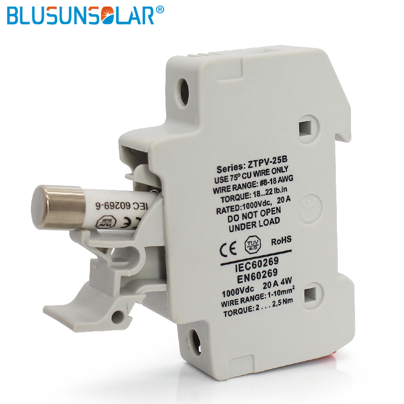 5 sets/lot PV Solar Fuse 20A 1000V DC Fusible 10x38 gPV, with Fuse Holder  for Solar System Protection|fuse 20a|solar fuse1000v dc - AliExpress | Pv Fuse Box |  | AliExpress