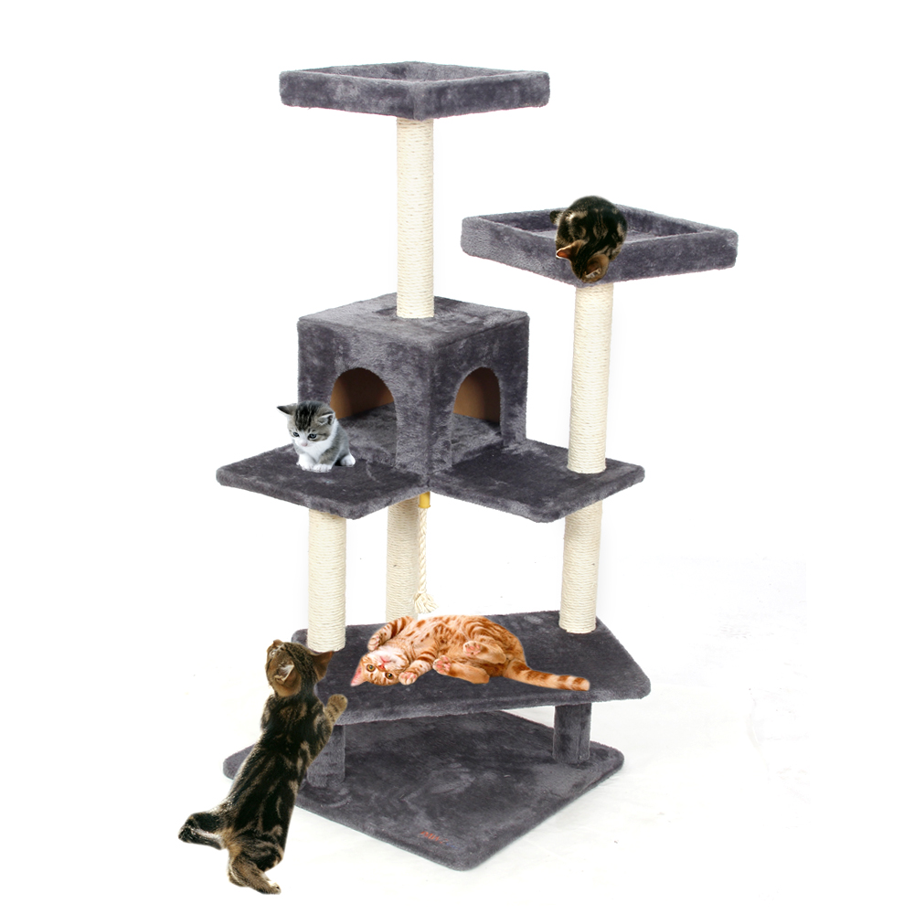 Domestic Delivery Scratching Wood Climbing Tree For Cat