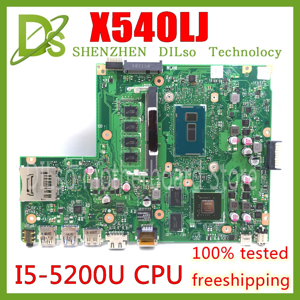 KEFU X540LJ For ASUS X540L F540L 4G RAM I5-5200U Laptop Motherboard  REV2.1 Test Before Shipping Work 100%