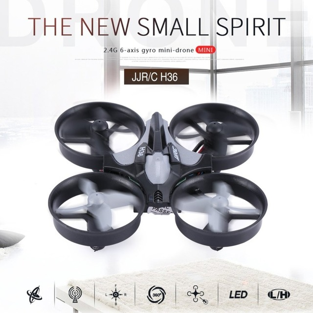 JJR/C H36 2.4GHz RC Helicopters 4 Channels 6-Axis Gyroscope 3D Flip RTF Aerocraft Portable Mini Drone RC Quadcopter Outdoor Toys