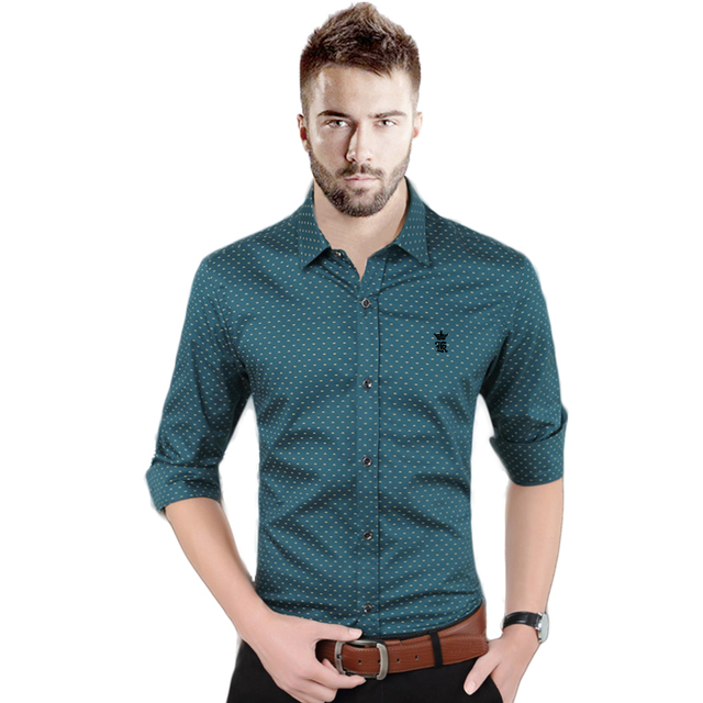 DUDALINA Plaid Formal Business long sleeved Shirt Summer Fashion camisa masculina Reserved Aramy Sergio K camisa Slim Fit shirt